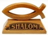 Productafbeelding Vis op voet 10x6.5cm shalom mahoniehout